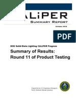 DOE SSL Caliper Round-11 Summary