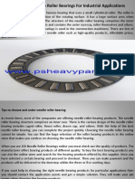 Use Best Needle Roller Bearings for Industrial Applications