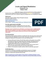 Procedure - AC Circuits and Signal Modulation - W20