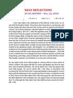 4th Sunday of Advent Sermon in English