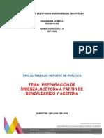 Preparación de Dibenzalacetona a Partir de Benzaldehído y Acetona