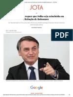 MP de Contas requer que Folha seja reincluída em licitação de Bolsonaro - JOTA Info