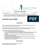 PQ 5.2 Customer Focus Policy