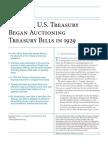Why the U.S. Treasury Began Auctioning Treasury Bills in 1929