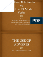 The Use Of Adverbs PRESENTATION