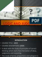 nature of judgment -logic