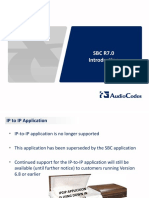 AudioCodes Session Border Controller (SBC) R7.0 Introduction - Technical...
