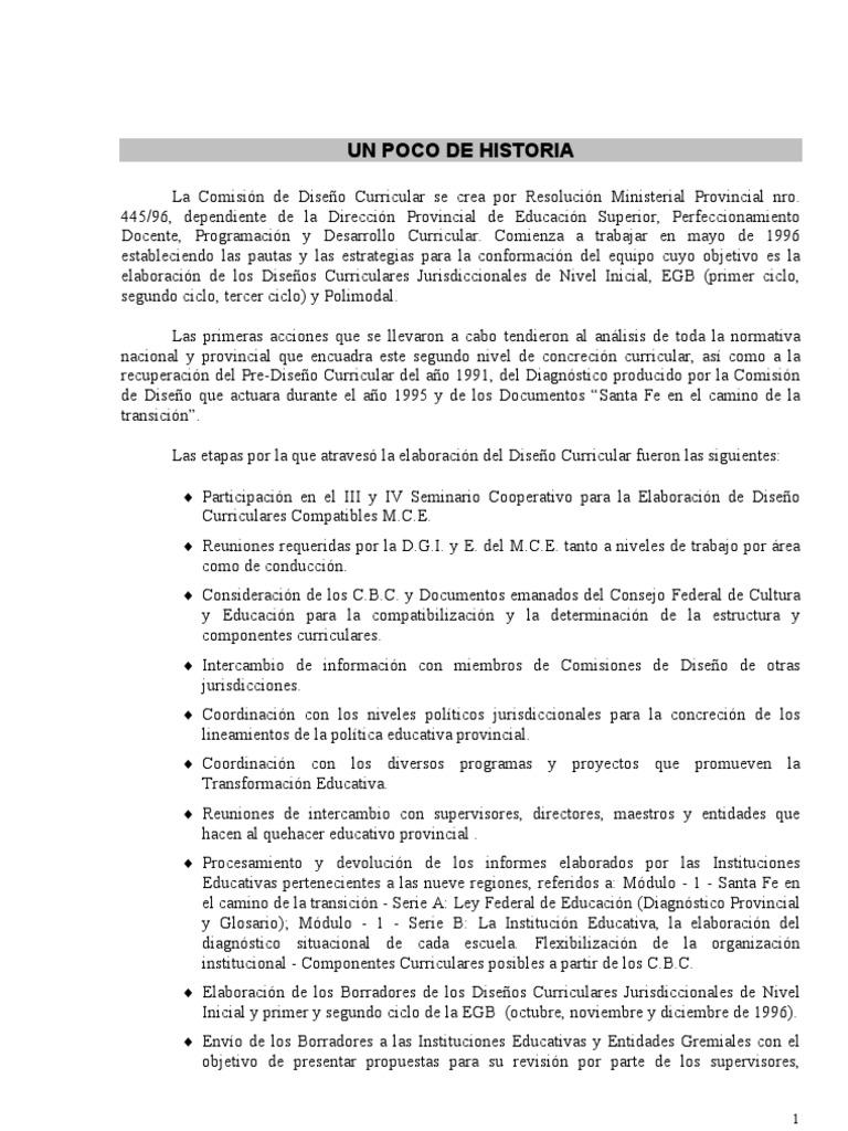 DISEÑO CURRICULAR - EGB1