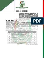 HOJA DE CONCEPTO - certificado de trabajo 2019 -  RONALD ROGER LAURA ARUQUIPA