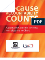 Because Accountability Counts- A journalist's Guide for covering Post-elections in Ghana
