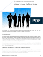 Duties and responsibilities of a Director of a Private Limited Company - iPleaders