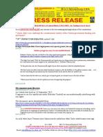 20200124-PRESS RELEASE Mr G. H. Schorel-Hlavka O.W.B. ISSUE – Re Funding of Arts & Sports
