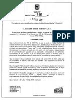 Decreto 846 de 2019