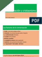 Romanización y Cristiasnismo