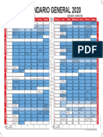 Calendario Institucional 2020
