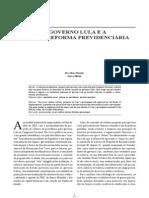 ARTIGO - O GOVERNO LULA E A CONTRA-REFORMA PREVIDENCIÁRIA