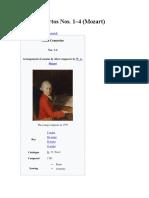 Piano Concertos Nos. 1-4 Mozart
