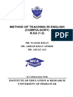 Dr. Arbab Afridi (Method of Teaching English)