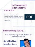 classroom management strategies for effective instruction.ppt