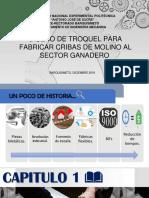 TROQUEL DE PUNZONADO PARA ELABORAR CRIBAS DE MOLINO