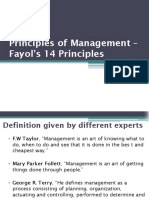 6. Fayol's 14 principles
