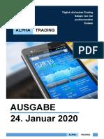 Alpha Trading - Ausgabe 24. Januar 2020