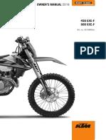 KTM 450 EXC 2018 - Owners Manual