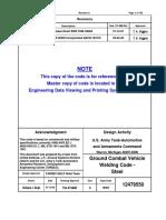12479550 Ground Combat Vehicle Welding Code - Steel