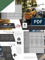 especificaciones Subaru XV 2016
