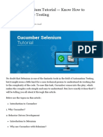 17 Cucumber Selenium Tutorial — Know How to Perform Website Testing