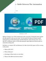 13 QTP vs Selenium - Battle Between The Automation Testing Giants