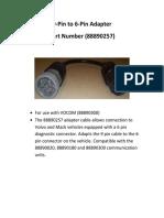 9-Pin to 6-Pin Adapter 88890257