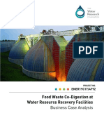 Food Waste Co-Digestion at Water Resource Recovery Facilities