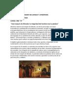 ENSAYO DE LENGUA Y LITERATURA