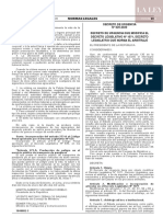 Decreto de Urgencia N° 020-2020