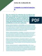 Llave 6 Criterios de evaluación de software