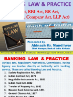 Banking Law & Practice (NI Act, RBI Act, BR Act,  Contract Act, Company Act, LLP Act)
