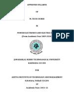 M.Tech Syllabus (PEED) for 2ND sem