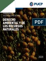 Programa de Segunda Especialidad de Derecho Ambiental 2020