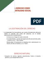 2. DERECHO COMO MENTALIDAD SOCIAL
