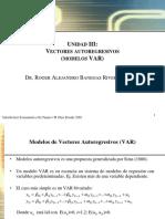 Unidad VI  Vectores autoregresivos VAR