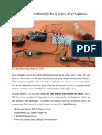 AC Light Dimmer using Arduino and TRIAC