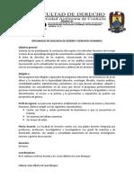 Diplomado en Violencia de Genero y Derechos Humanos Fac Der Torr Uadec