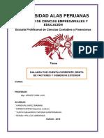 Monografia de Balanza Por Cuenta Corriente, Renta de Factores y Comercio Exterior