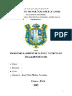 Monografia de Contaminacion Ambiental de Challhuahuacho