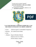 Monigrafia de Las Comunidades Campesinas Derecho a Los Recursos Naturales y El Medio Ambiente
