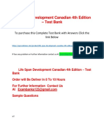 Life Span Development Canadian 4th Edition – Test Bank
