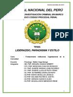 Monografia de Liderazgo, Paradigma y Estilo