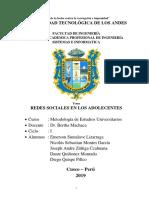 Monografia de REDES SOCIALES EN LOS ADOLECENTES.docx