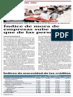 Índice de mora de empresas sube más que de las personas - Gestión 25.11.19